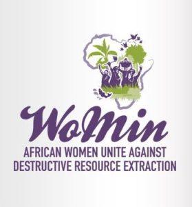 Logo WoMin (Vrouwen in Mijnbouw)